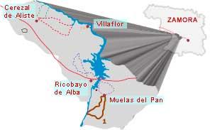 mapa ruta los arribanzos zamora