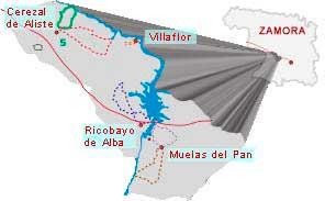 mapa ruta los-molinos de arroyo de lugar zamora