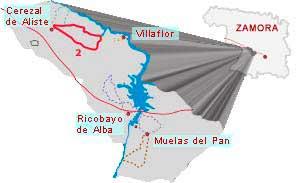 mapa ruta sofreral del cerezal zamora