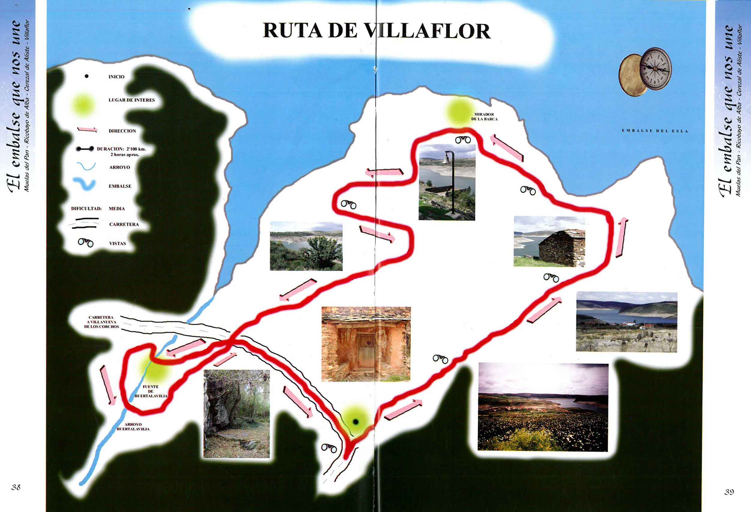 plano ruta de villaflor