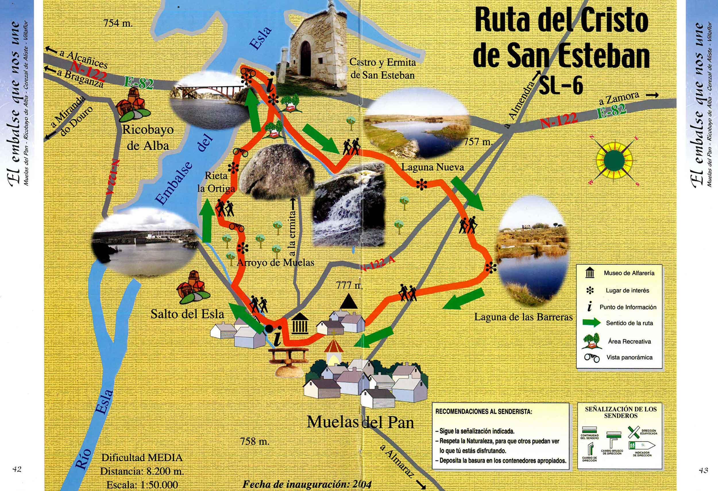 mapa ruta castro y ermita san esteban