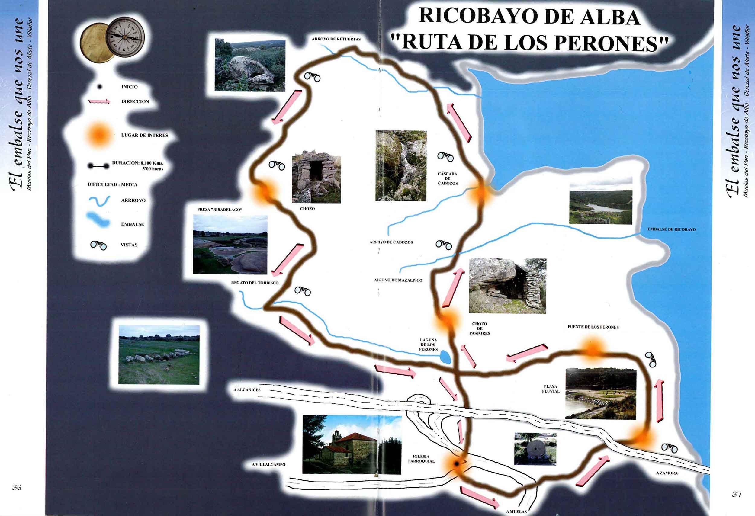 plano ruta los perones